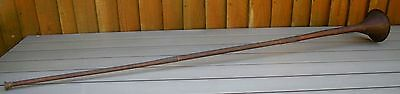 "Antique/vintage Copper & Brass Extra Long 48"" Hunting Horn~Great Age Patina"