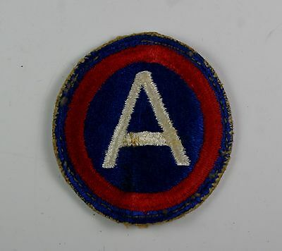 Vintage Military Embroidered Patch Wwii Us Army 3Rd Army Insignia Patch