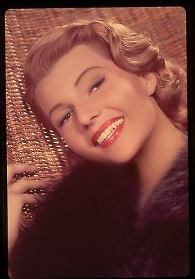 35mm color transparency/slide photo beautiful, rita hayworth taken in 1952.