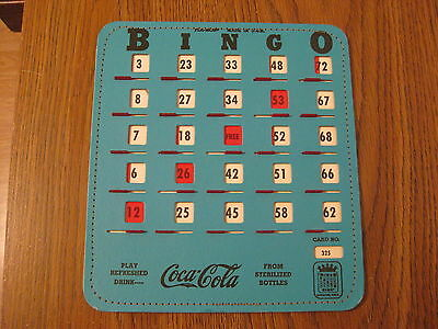 Coca-Cola 1981 Bingo Card From Kansas City Cola Clan Convention, Unused Ex