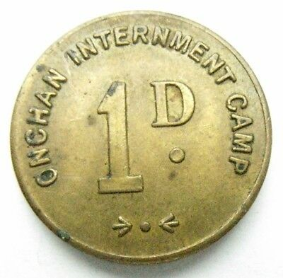 Isle of man Onchan Inerment Camp Penny Token
