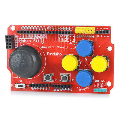 Red FR4 nRF24L01 wireless Bluetooth DIY Joystick Shield V1 Expansion Board