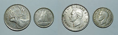 Canada : 2 Old Silver Coins