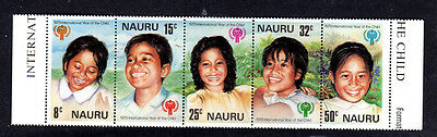 NAURU  201-205a  NAURUAN GIRL#  MINT  VF NH  O.G STRIP OF 5