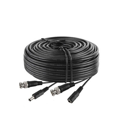 300Ft Security Camera Cable CCTV Video Power Wire BNC RCA Black Cord DVR