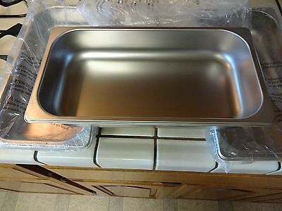 "BRAND NEW Stainless Steel HOTEL STEAM PANS / Buffet 6.5""x 12"" x 2 1/2"" (3) NEW!"