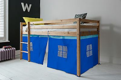 Cabin Bed Kids Bed with Tent Bunk Single in Choice of Colours