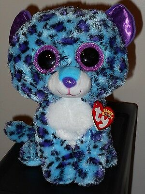 "NM* Ty Beanie Boos ~ LIZZIE 8-9"" Leopard Buddy Size ~Claires Exclusive~ NEW ~ NM"