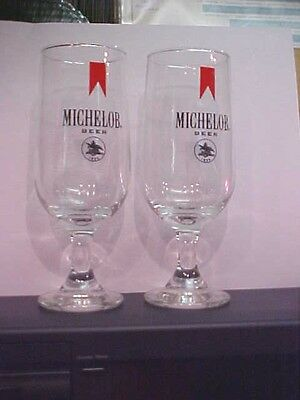 MICHELOB BEER GLASS 1960's  GLASS Back Bar BREWERY 1960'S  new old stock NOS =2=