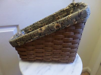 Longaberger  Catalog Basket Combo Dark Stain Liner And Protector
