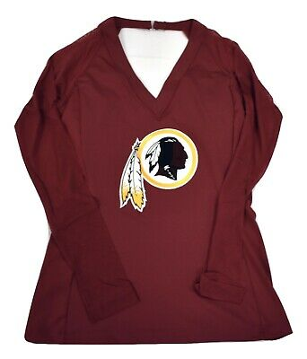 ALL SPORT COUTURE NFL Womens Washington Redskins Wildkat Shirt NWT ... f2201c413
