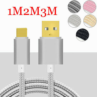 1/ 2/3m Sync Data Charger Charging Cable Cord For iPad iPhone 5 5S 6 6S 7 7Plus