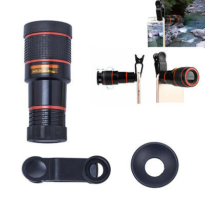 Clip-on 12x Optical Zoom HD Telephoto Telescope Camera Lens For iPhone 7 7P 6 6P