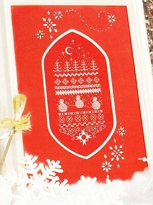 Jeanette Douglas - RED CHRISTMAS - Counted Embroidery, NEW, c2003