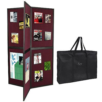 6 Panel Exhibition Folding Display Board Stand Trade Show School Aluminum Frame