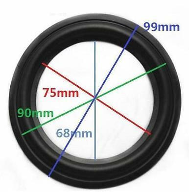 "High Quality 4"" 4 inch 90mm Speaker Surround Repair Rubber Edge Replacement"