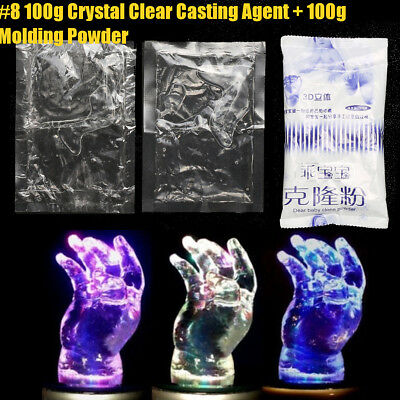 100g Crystal Clear Plaster Baby Casting Kit 3D Handprint + 100g Moulding Powder