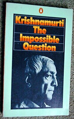 The Impossible Question, Krishnamurti, J. Paperback Book The Cheap Fast Free