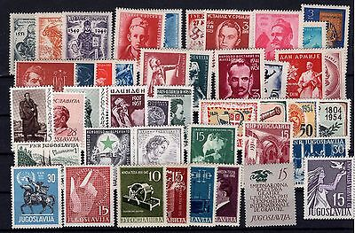 P27080/ Yougoslavie Yougoslavia Lot 1945 / 1950 Neufs / Mint 215 €