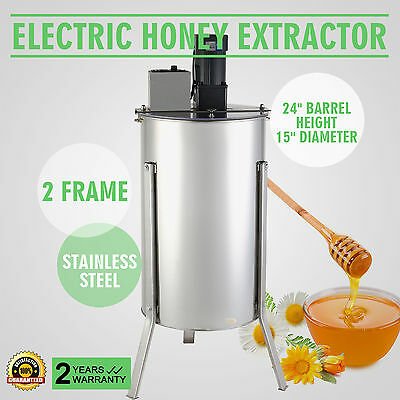 Electric 2 Frame Stainless Steel Honey Extractor Beekeeping Equipment -110V