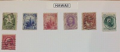 Hawaii Album Page Fine Condition. Cat £56