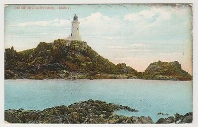 Jersey postcard - Corbiere Lighthouse, Jersey - P/U 1907