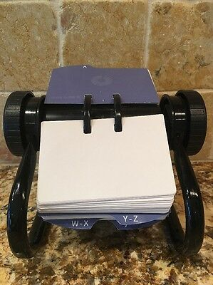 Vtg Rolodex Rotary Card File with Cards