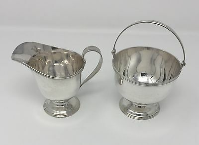 Tiffany & Co Sterling Creamer and Stemmed Candy/Sugar Cube Bowl with Handle