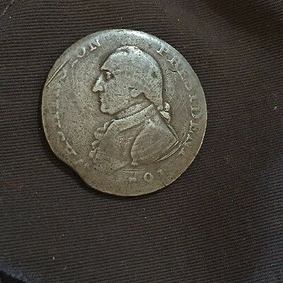 1791 Large Eagle George Washington President Colonial Copper One Cent