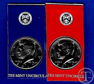 2017 P and D-BU UNCIRCULATED Kennedy Half Dollar Set-PD from Mint Set-IN STOCK