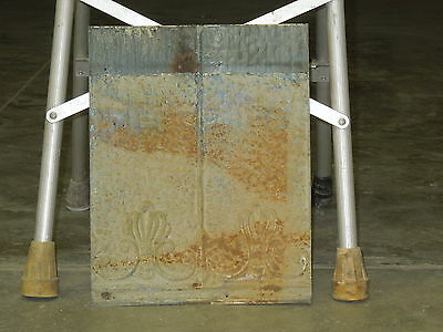 "Old Antique ( Metal )  tin ceiling tile / tiles 12""x15"" --fleur"