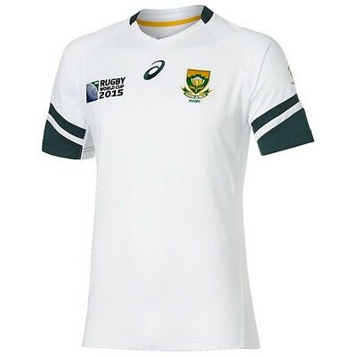 Asics South Africa Springbok Away Mens Rugby Shirt Rugby World Cup 2015 Jersey