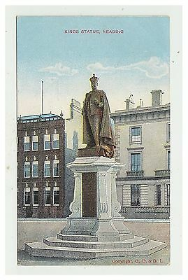 Berkshire postcard - Kings Statue, Reading