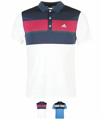 SPORT adidas Chest Block Golf Polo Shirt Mens White/Slate