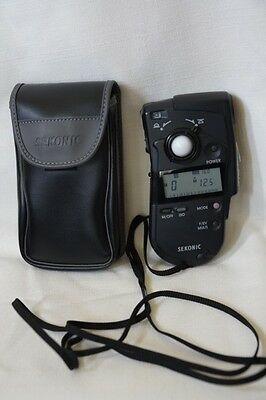 orkSekonic Multimaster Model L-408 Light Exposure Meter with Carry Case
