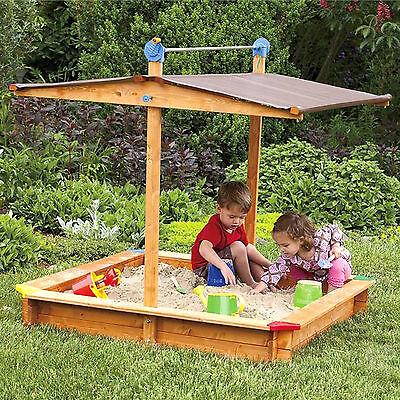 Tierra Garden 4.67 Square Sandbox with Cover