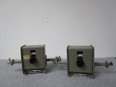 Lot of 2 HP Model P382A Variable Attenuator Waveguide WR-62 12.4-18GHz