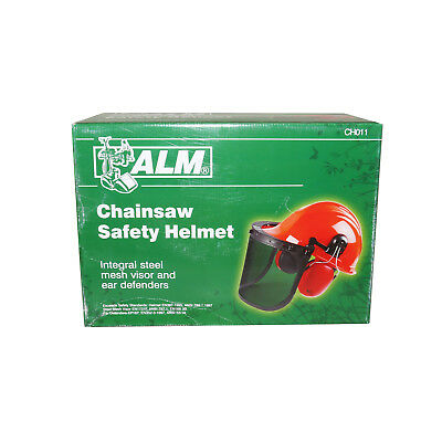 ALM CH011 Chainsaw Safety Helmet - Hard Hat / Ear Defenders / Metal Mesh Shield