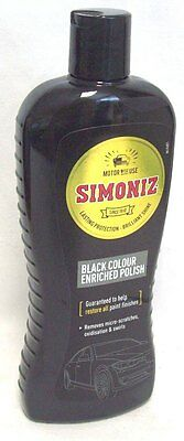 Simoniz Black Colour Enriched Car Motor Polish Helps Restore Paitwork 500ML