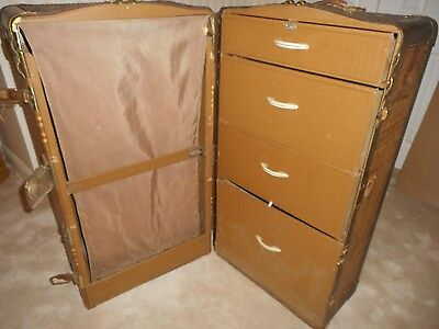 1940 Oppenheimer Sherman Fine Luggage NY Wardrobe Travel Trunk