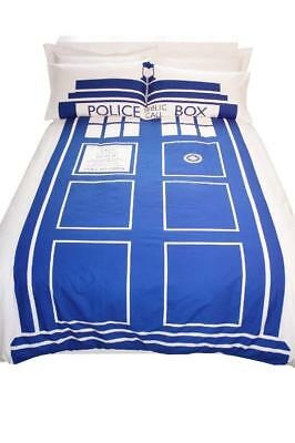 Official Dr Doctor Who Tardis King Size Bedding Bed Duvet Cover Set