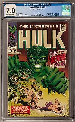 Incredible Hulk #102 CGC 7.0 (OW-W) Origin of The Hulk Retold