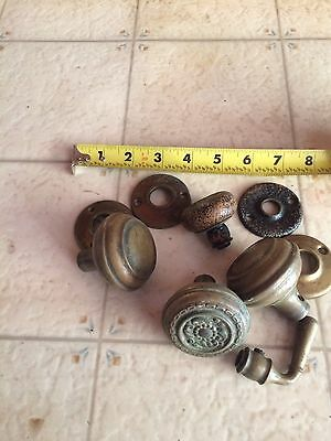 Lot Of Five  Brass Vintage/Antique Door Knobs And More
