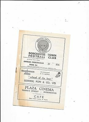 Dorchester Town v Portland United 18/12/1954 Western League