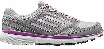 Adizero Womens Sport III Golf Shoes - Q46906 Size 6 Medium Sliver Pink