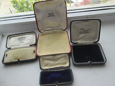 Antique Vintage Jewellery Box X4, Ring Box,brooch Box, Necklace Box, Jewelry Box