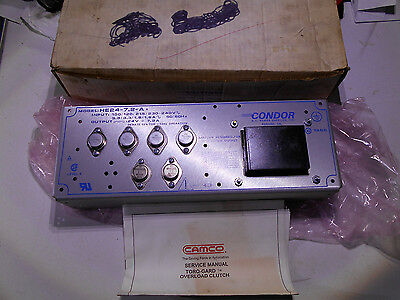 Condor HE24-7.2At DC Power Supply New In Original Factory Box