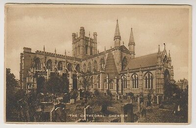 Cheshire postcard - The Cathedral, Chester
