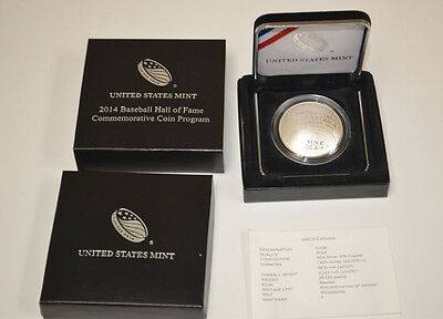 2014-P Baseball Hall of Fame $1 Silver Commemorative Dollar Proof