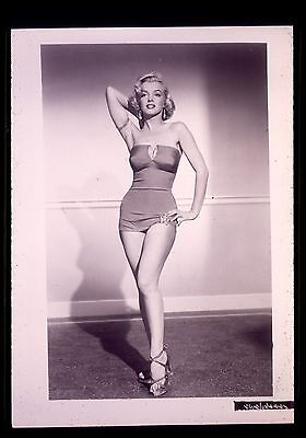 "35mm B&W transparency/slide publicity pin-up photo marilyn monroe ""millionaire"""